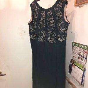 Green Lace Dress Long Size 22